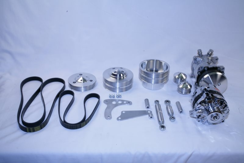 Mopar Hemi and Big Block pulley kit with AC and Alternator